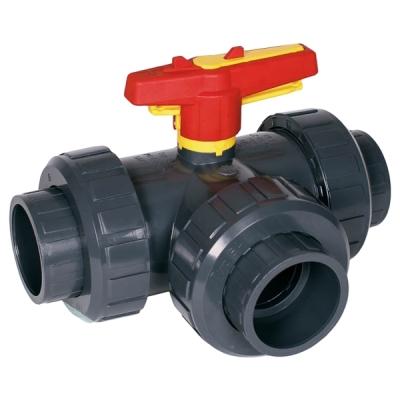 025-PVC-U 3-cestný ventil pro PVC trubky 25mm
