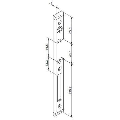 23-INOX-3L Lišta otvírače pro LEVÉ plastové dveře