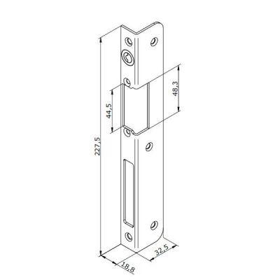 25-INOX-3L Lišta otvírače pro LEVÉ dveře