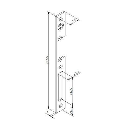 26-INOX-3 Lišta otvírače OBOUSTRANNÁ, rovná dlouhá