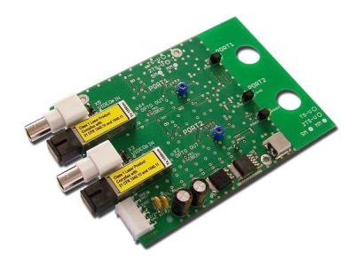 2TS-V-RACK Vysílač 2 videosignálů po optickém kabelu, RACK
