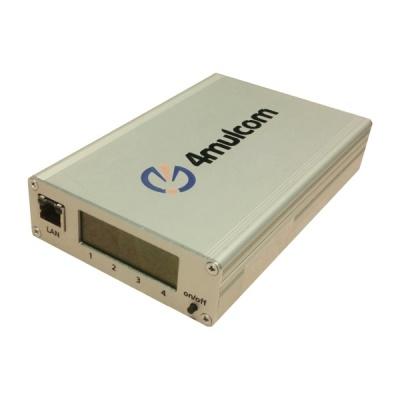 4-MUL-COM Multiplexer pro mobilní datové připojení LAN po 4 GSM kanálech