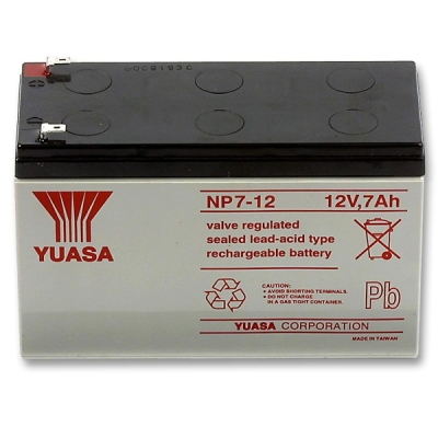 AKU-12V/7.0Ah-NP Bezúdržbový VRLA akumulátor 12V, kapacita 7Ah