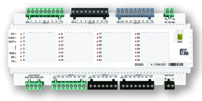 APR-ZX-32D Rozšiřující modul 32 smyček na DIN lištu pro ústředny EVO
