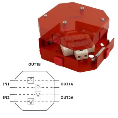AWOP-425SRCZ Rozbočovací krabice pro rozvody EPS, 4/4+4 svorky