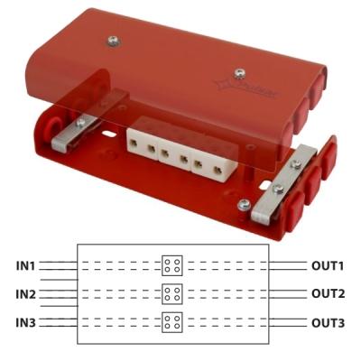 AWOP-625PPCZ Propojovací krabice pro rozvody EPS, 6/6 svorek