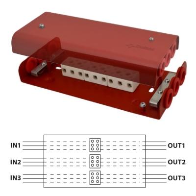 AWOP-960PPCZ Propojovací krabice pro rozvody EPS, 9/9 svorek