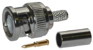 BNC-75/5 Krimplovací konektor BNC pro kabel 5mm