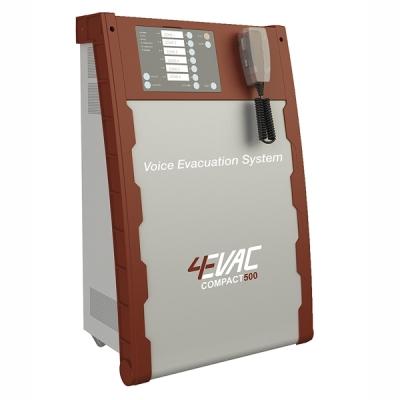 C500/1+1 Certifikovaná evakuační ústředna s výkonem až 200W + zál.zesilovač