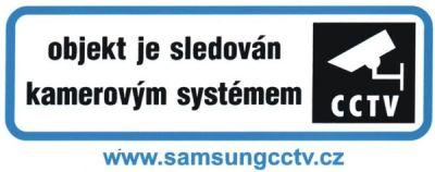 CCTV-V Nálepka OBJEKT JE SLEDOVÁN KAMEROVÝM SYSTÉMEM
