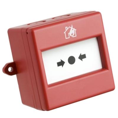 CXM/CO/G/R/WP Venkovní červené požární tlačítko, prolamovací sklo, NC/NO