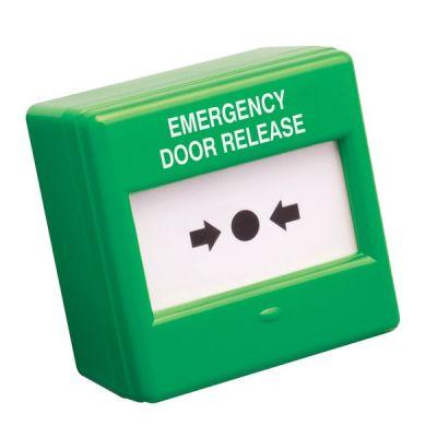 CXM/CO/P/G/BB Vnitřní zelené nouzové tlačítko, prolamovací plast, NC/NO