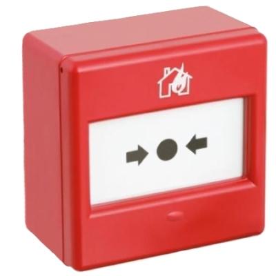 CXM/CO/P/R/BB Vnitřní červené požární tlačítko, prolamovací plast, NC/NO