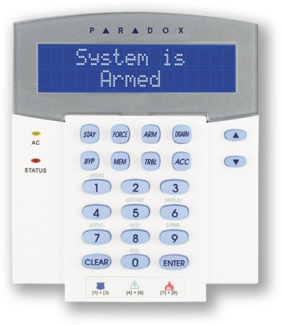 K641 Ovládací klávesnice sLCD displejem pro ústředny Digiplex
