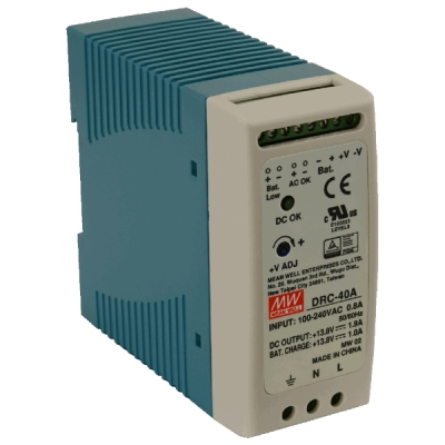 DRC-40A Zálohovaný napájecí zdroj pro EZS, 13,8V výstupní proud 1,9A