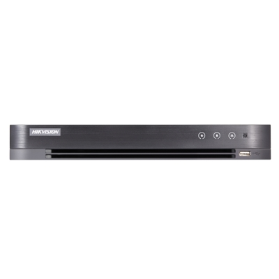 DS-7208HTHI-K2 Turbo HD/CVI/AHD/CVBS DVR, 8 kanálů + 8 IP, až 8MPx(4K), (bez HDD)