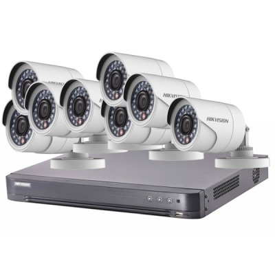 DS-J142I/7208HQHI-K1+8CAM Set Turbo HD DVR (7208HQHI-K1) + 8x DS-2CE16D0T-IRP(3.6mm)