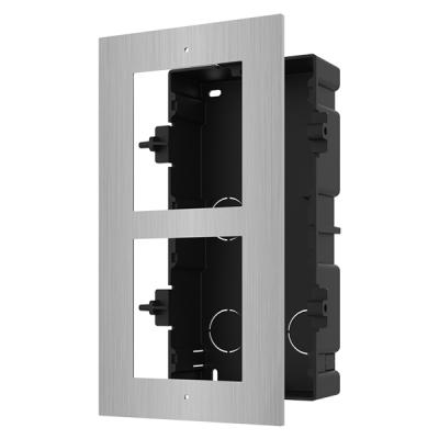 DS-KD-ACF2/S Rámeček pro interkom, 2 moduly, zapuštěný, ocel