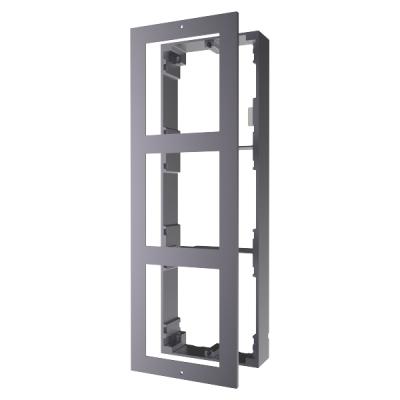 DS-KD-ACW3 Rámeček pro interkom, 3 moduly, povrchový, hliník