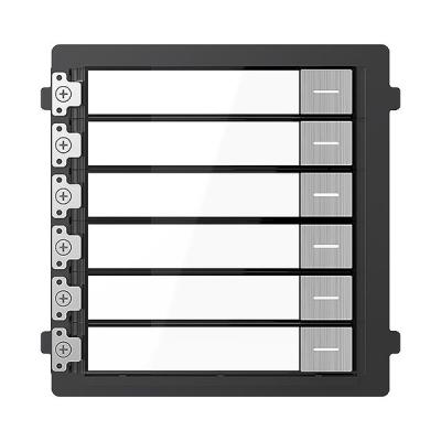 DS-KD-KK/S Venkovní 6ti tlačítkový modul pro videotelefony, ocel