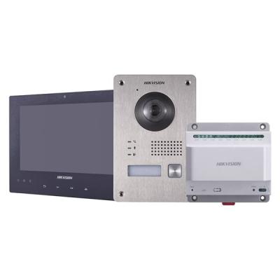 DS-KIS701/EU-W Sada analogového videotelefonu - venkovní tablo + domovní jednotka + napájecí zdroj