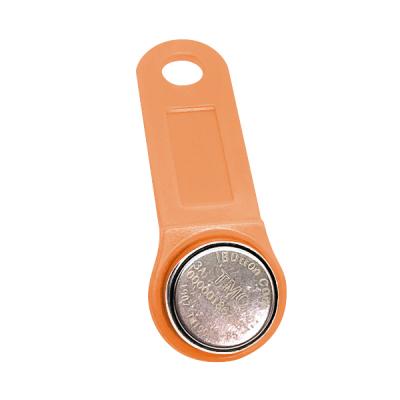 DS-TiBUTTON-LO Kontaktní identifikační čip Dallas iButton včetně sv.oranžové klíčenky