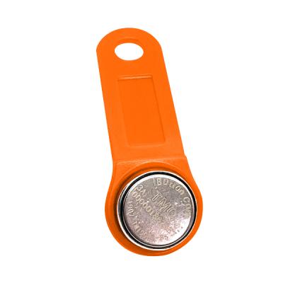 DS-TiBUTTON-O Kontaktní identifikační čip Dallas iButton včetně oranžové klíčenky