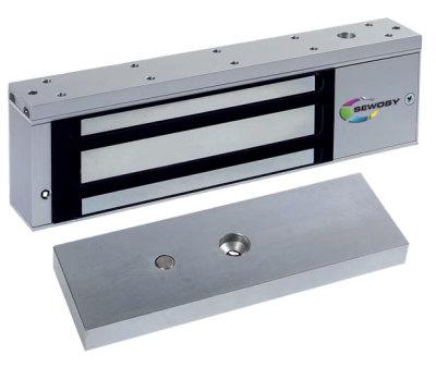 EF-550-CTC Dveřní elektromagnet 550kg, 12/24V, LED+relé výstup
