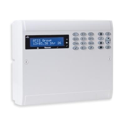 ELITE-64-W-LIVE Bezdrátová ústředna s LCD pro hybridní aplikace, 64 zón, 4 podsystémy