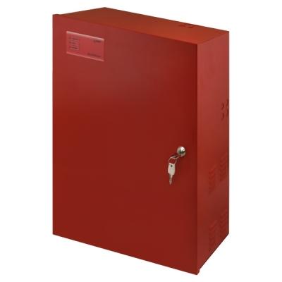 EN54C-10A65 EN54-4 zdroj 27V v krytu pro 2 AKU 65Ah, proud trvale 7,4A, přerušovaně 10A, LED displej