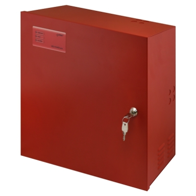 EN54C-5A28 EN54-4 zdroj 27V v krytu pro 2 AKU 28Ah, proud trvale 3,8A, přerušovaně 5A, LED displej