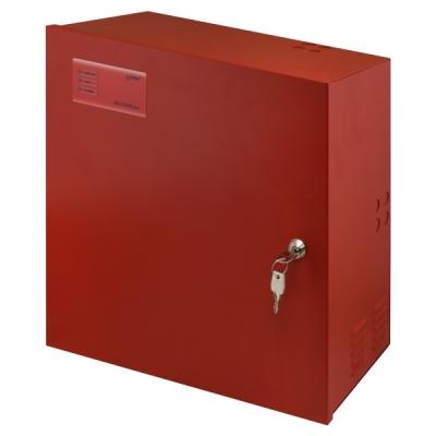 EN54C-5A40 EN54-4 zdroj 27V v krytu s pro 2 AKU 45Ah, proud trvale 3,2A, přerušovaně 5A, LED displej