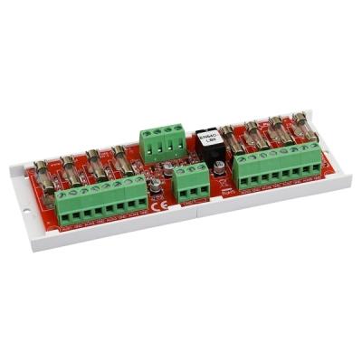 EN54C-LB8 Modul pro zdroje řady EN54M a EN54C, 8 jištěných výstupů