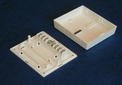 ES-070-W Plastová rozvodná krabička, 8 svorek