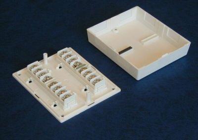 ES-071-W Plastová rozvodná krabička, 16 svorek