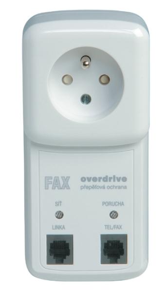 FAX-OVER-x16 Přepěťová ochrana telefonní linky JTS a zásuvky 230V