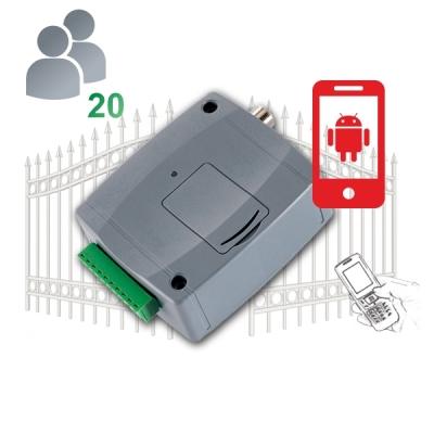 GITA-CONTROL-Pro20-3G Univerzální GSM brána s funkcemi pro ovládání vrat, 20 uživatelů