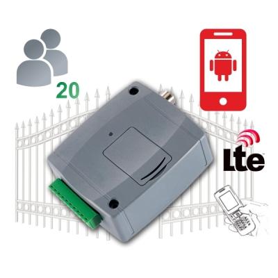 GITA-CONTROL-Pro20-4G Univerzální GSM brána s funkcemi pro ovládání vrat, 20 uživatelů