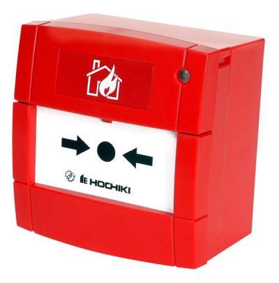 HCP-E-SCI(HFP) Červený tlačítkový hlásič s izolátorem, bez zadního krytu