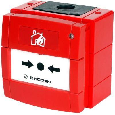 HCP-W-SCI(HFP) Červený IP67 tlačítkový hlásič s izolátorem, včetně zadního krytu