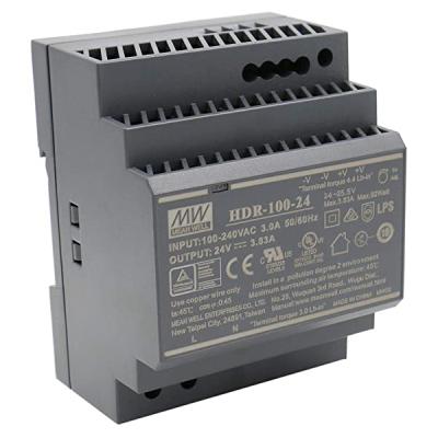 HDR-100-24 Napájecí zdroj 24V výstupní proud 3,8A na DIN