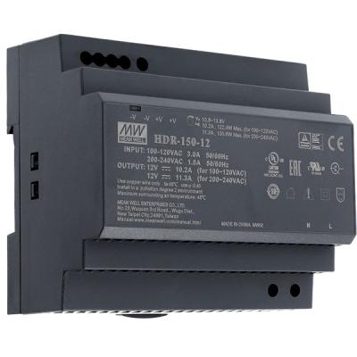 HDR-150-12 Napájecí zdroj 12V výstupní proud 11,3A na DIN