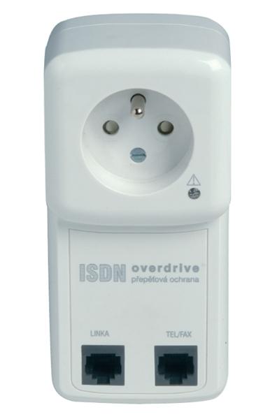 ISDN-OVER-x16 Přepěťová ochrana ISDN linky a zásuvky 230V