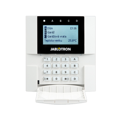 JA-110E Sběrnicová klávesnice s displejem, klávesnicí a RFID čtečkou