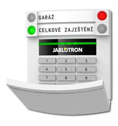 JA-153E Bezdrátový přístupový modul s klávesnicí a RFID, až 20 segmentů