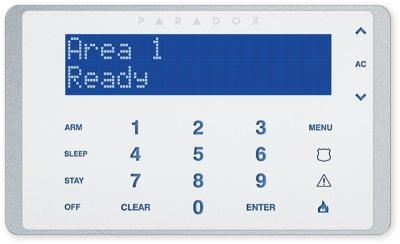 K-656 Ovládací dotyková klávesnice s displejem pro ústředny DGP848, EVO