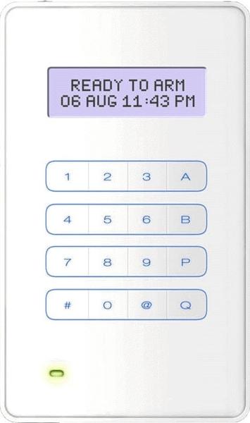 KEYPROX-8EM Ovládací LCD klávesnice s PROXI čtečkou pro ústředny GALAXY
