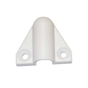 KH-10-B Plastová koncovka pancéřové hadice - bílá