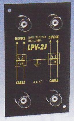 """LPV-2JB-RM Přepěťová ochrana pro 2 koaxiální kabely, """"RackMount"""""""