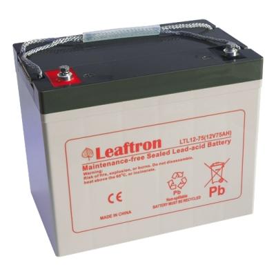 LTL12-75 Bezúdržbový 12V akumulátor pro evakuační rozhlas, kapacita 75Ah